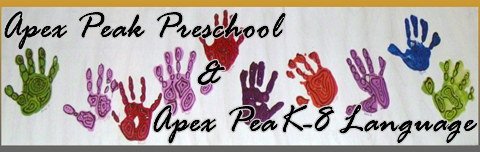 Apex Peak Preschool & Apex PeaK-8 Language